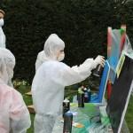 Graffiti Workshop auf einem Kindergeburtstag