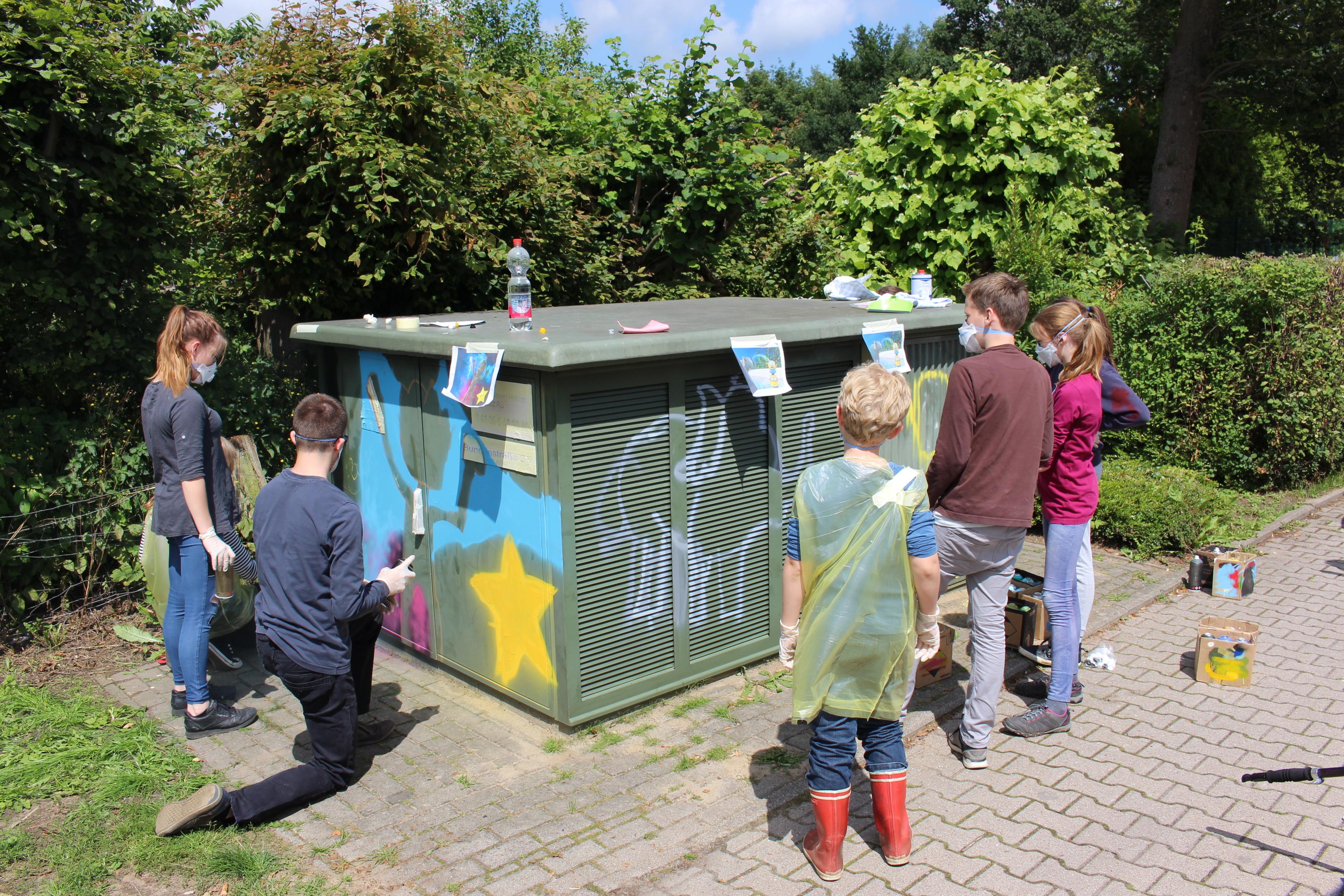 Graffitiprojekt Jugendtreff Kröppelshagen