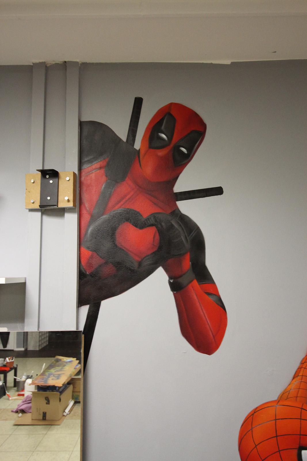 Graffitiauftrag Hyper Gym Deadpool
