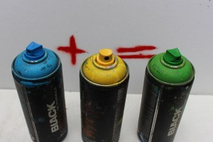 Graffiti-Farben Mischen