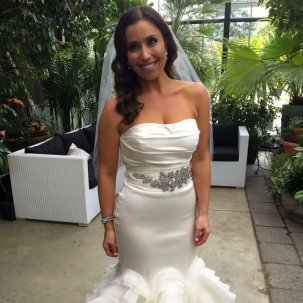 Amanda got the Ultimate Accelerated SprayChic Tan for her wedding day.