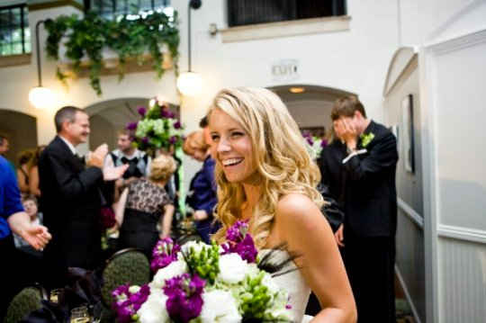 Bride, Kate, with her Golden Glow spray tan from SprayChic Airbrush Tanning in 2010