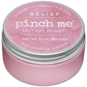 Pink Pinch Me Therapy dough in canister