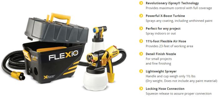 wagner flexio sprayer reviews