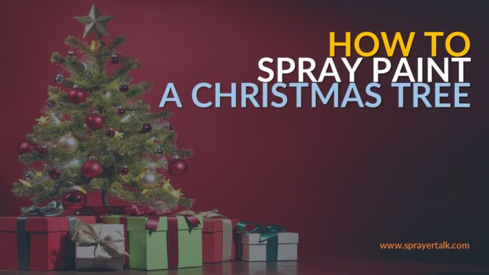 Christmas Tree Sprayer.How To Paint A Christmas Tree With A Sprayer In 6 Steps