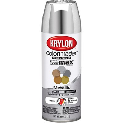 Krylon K05151102 Silver Interior and Exterior Decorator Paint