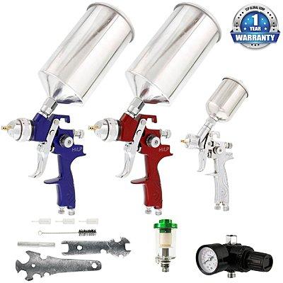 TCP Global Brand HVLP Spray Gun Set