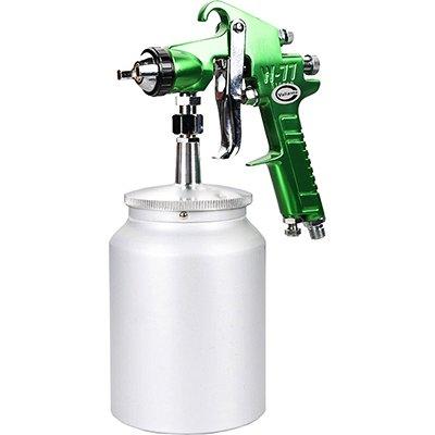 Valianto W77-S HVLP Siphon Feed Spray Gun Green Nozzle Size 3.0mm
