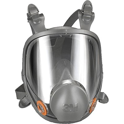 3M 6501QL Gray-Teal Rugged Comfort Quick Latch Half Facepiece Reusable Respirator