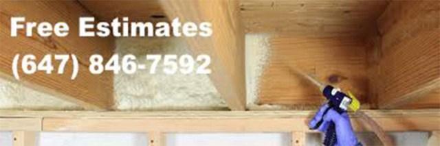 Reliable spray foam insulation service in North York