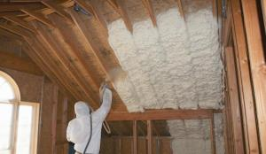 Completed Residential attic insulation