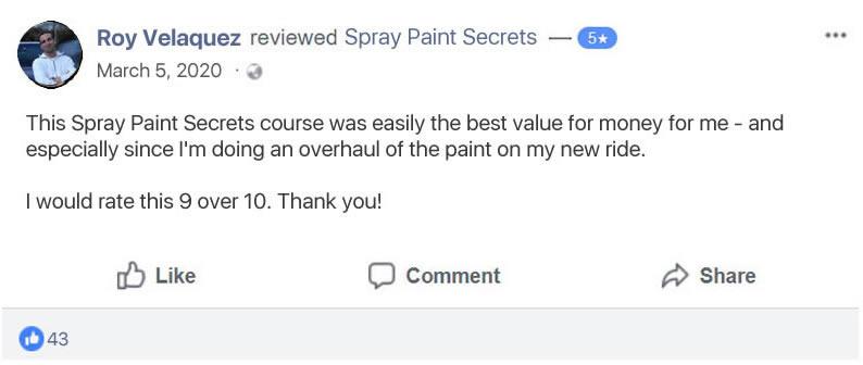 Spray Paint Secrets Customer Review