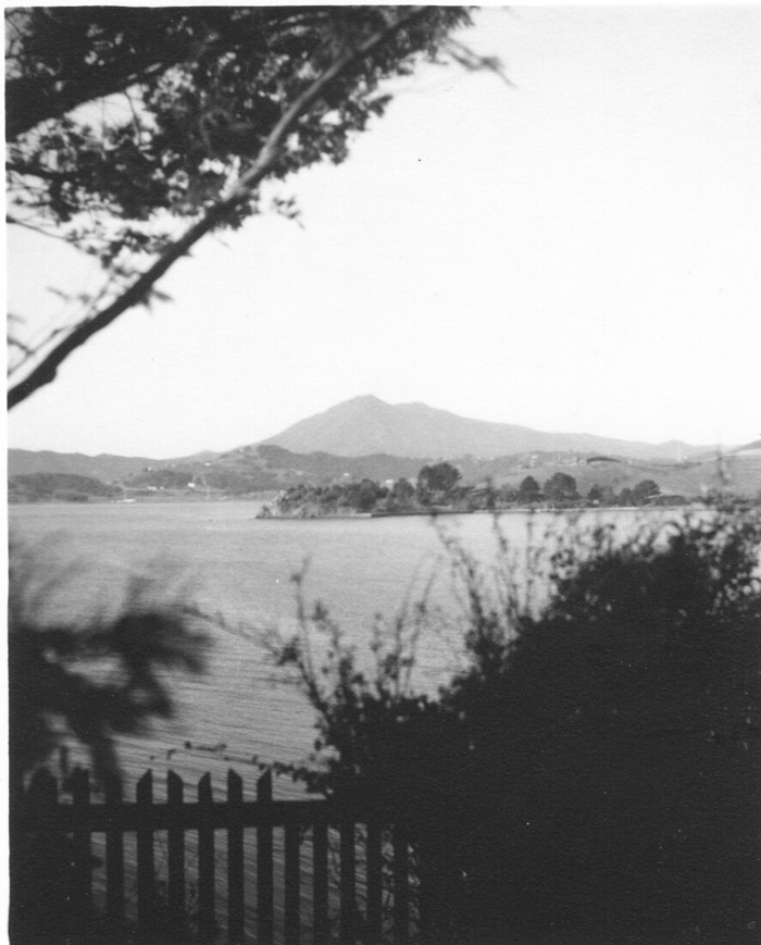 View from Bayside Acres to Mt. Tam in the 1950s