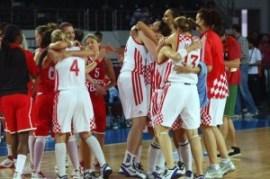 Članice ženske košarkaške reprezentacije uhvaćene u trenutku slavlja kad je jedan gledatelj mijenjajući programe na televiziji naletio na njihovu utakmicu