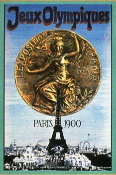 Na kojoj su razini 1900. godine bile Olimpijske igre neka posvjedoči ovaj službeni plakat grčke božice koja masturbira uz pomoć Eiffelovog tornja