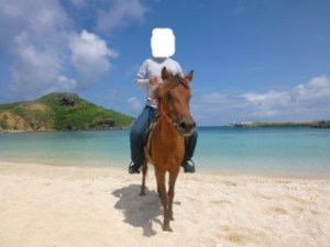 ヨナグニウマ乗馬