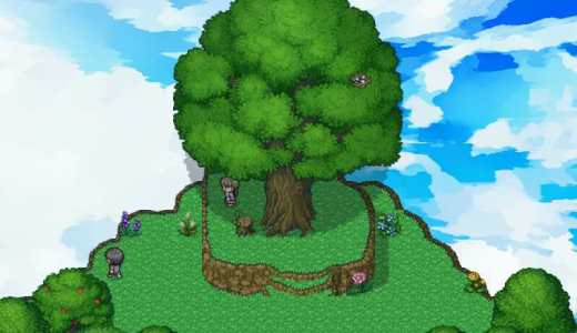 「ねくらファンタジーマップチップ素材集」で、屋外の風景やダンジョンを作ってみる
