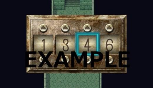 ウディタでパスワード(暗証番号)コモンイベント。作り方と解説、講座