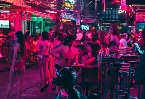 Human traffickers often force young women to work in strip clubs.