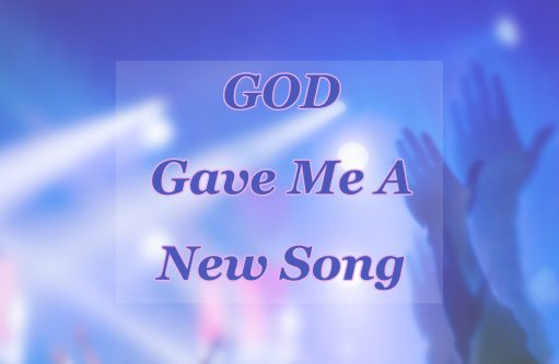 Hands raised in worship representing how God gave me a new song.
