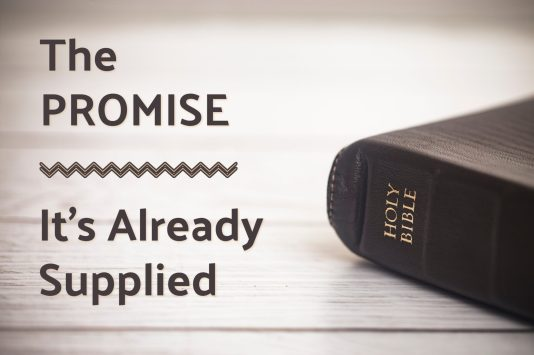 Photo of a Holy Bible. Pic represents how the bible is filled with the promises of God. Hence the blog title; The Promise: It's Already Supplied.