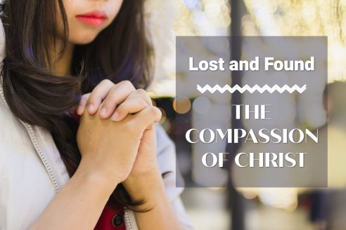 Woman praying--photo represents Lost and Found: The Compassion of Christ.