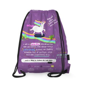 Unicorn in Jannah Drawstring Bag