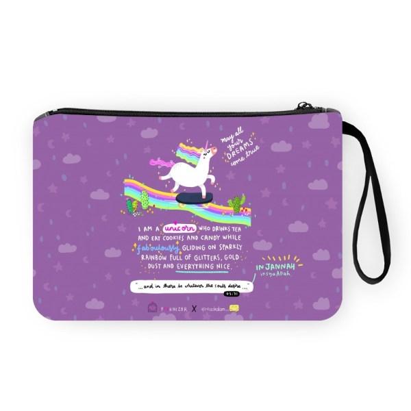 Unicorn in Jannah Pouch Bag