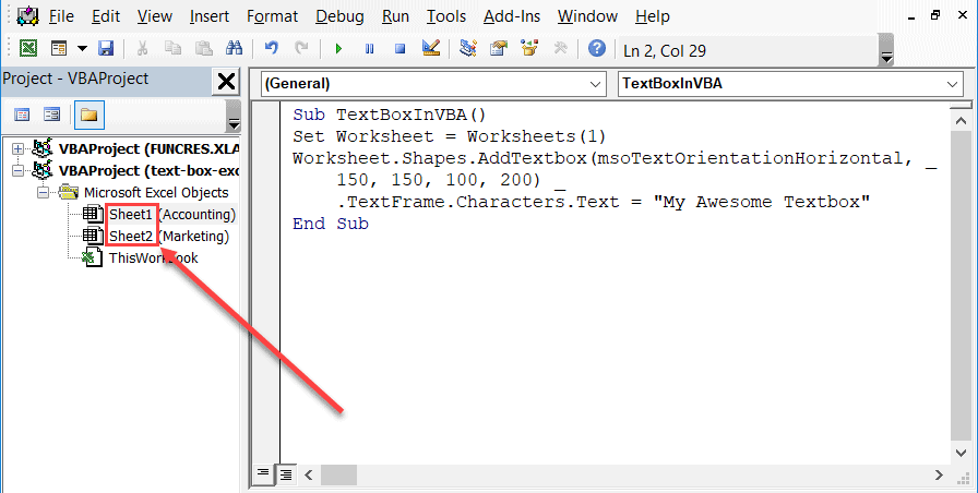 Find the location of a worksheet in VBA