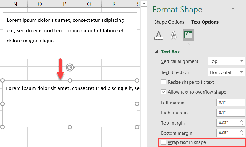 Wrap text in shape