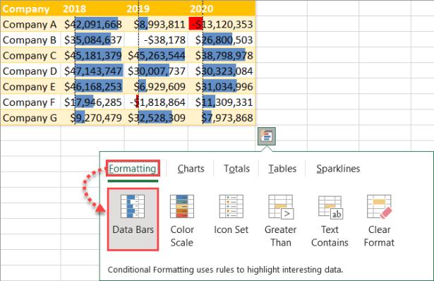 Click Data Bars