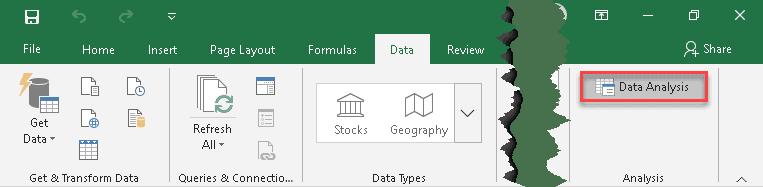 Select Data Analysis