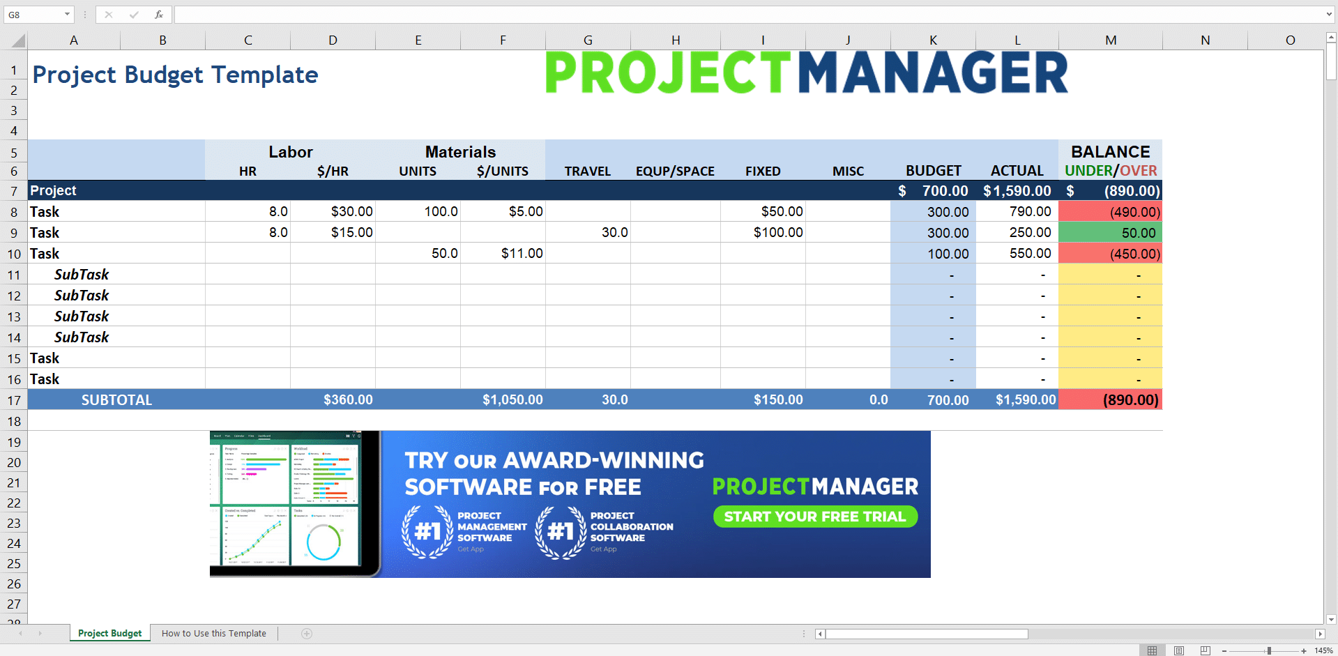 The 7 Best Project Management Templates For Excel