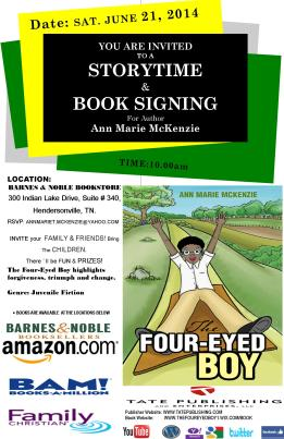 FLYER NEW COLORS BOOK SIGNING BARNES & NOBLE JUNE TWENTY ONE