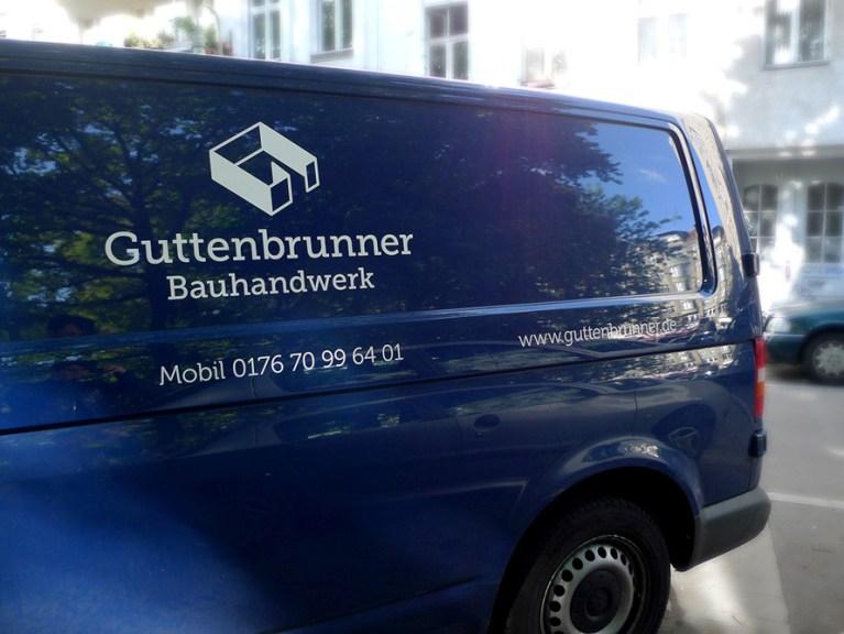 Autobeschriftung für Guttenbrunner Bauhandwerk