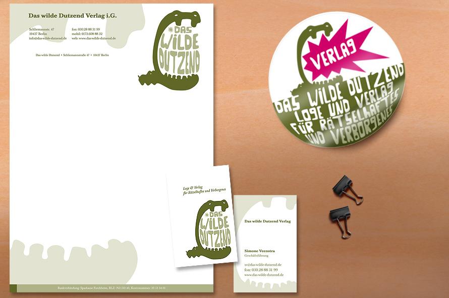 Entwicklung und Gestaltung Briefschaft, Aufkleber