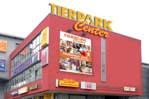 Logo für das Tierpark Center, Shoppingcenter