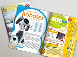grafische Konzeption und Gestaltung der Kinderseite für Apotheken Kundenzeitschrift vive