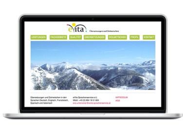 Gestaltung der Webseite Übersetzer