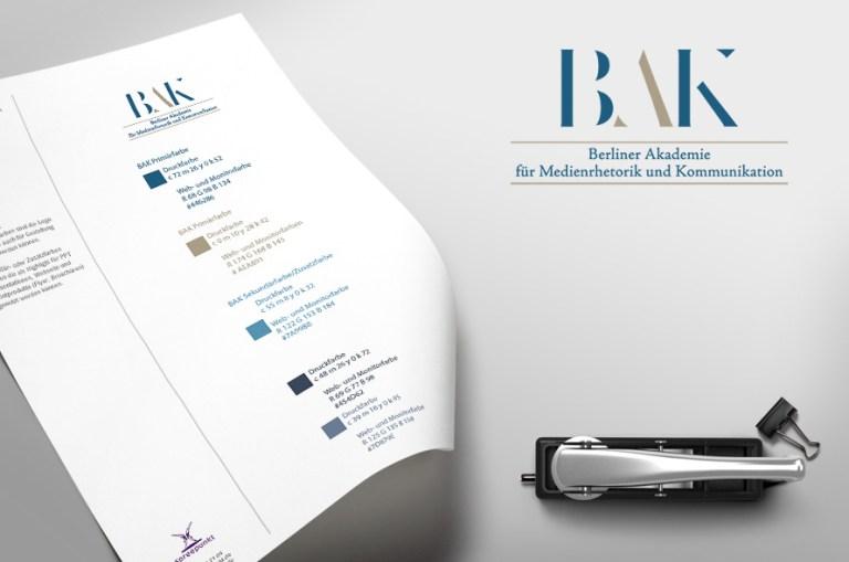 Logo und Styleguide für BAK