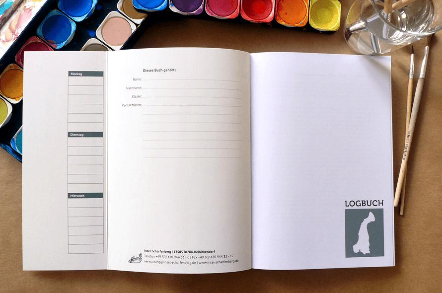 gestaltung Schülerkalender, Schulfarm Scharfenberg, Stundenplan