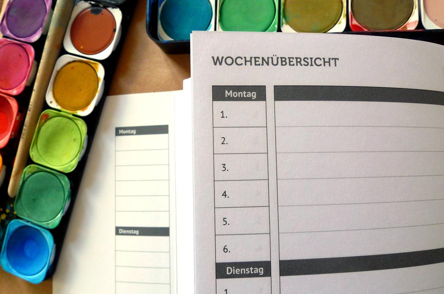 französisch Broschur, Schülerkalender, Schulfarm Scharfenberg