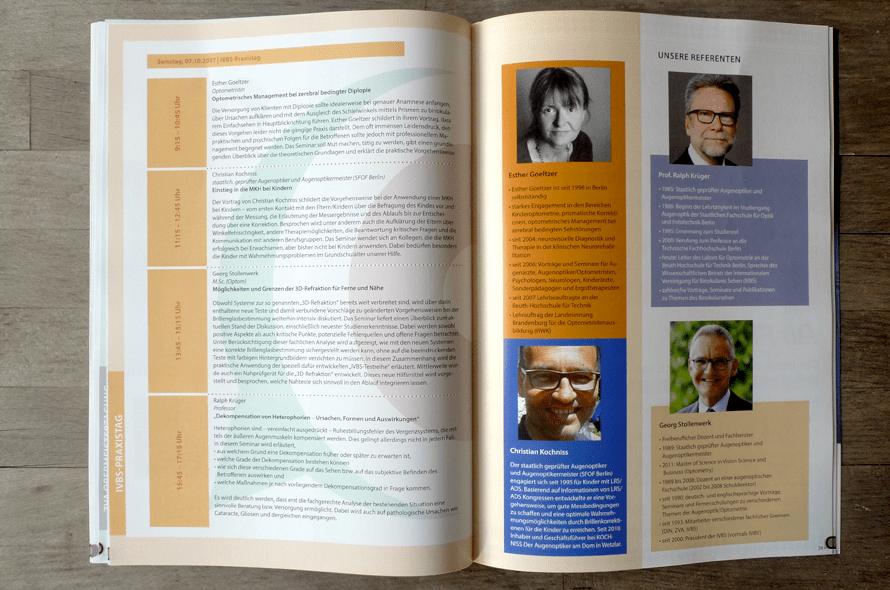 Programmbroschüre, Broschüre mit Konferenzprogramm