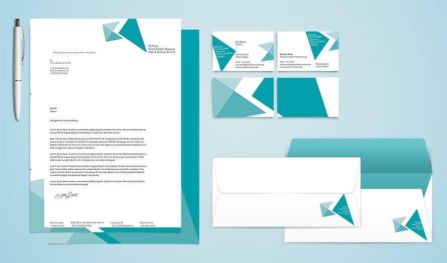 Corporate Design, Geschäftsausstattung für Pitch Stiftung Fürst Pückler