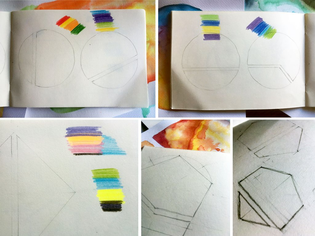 Skizzen für einen Kalender, Abstrakte Grafiken, Geometrie