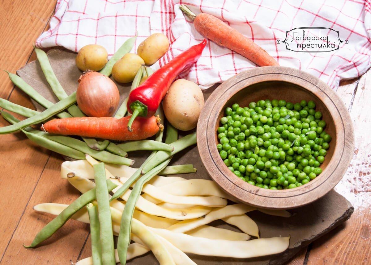 Зеленчукови съставки за пролетна яхния