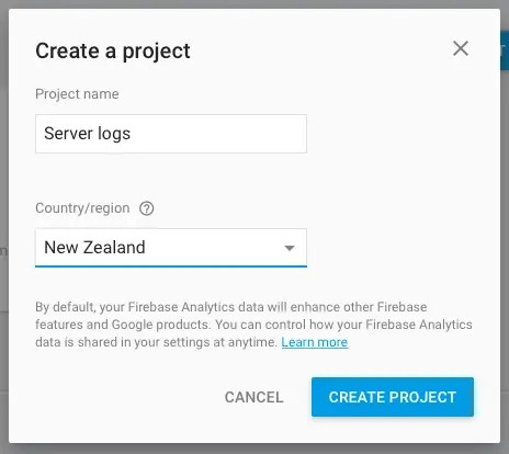 Making a server logs available online with Firebase (Part 1 of 3)