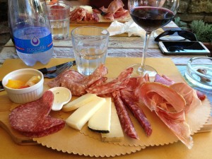 The meat and cheese board