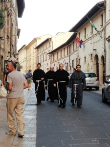 Franciscan monks in Assisi