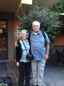 David and Edith in Rome